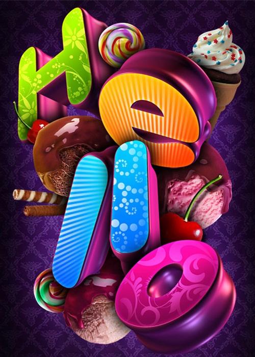 Creative 3D Typography (16)
