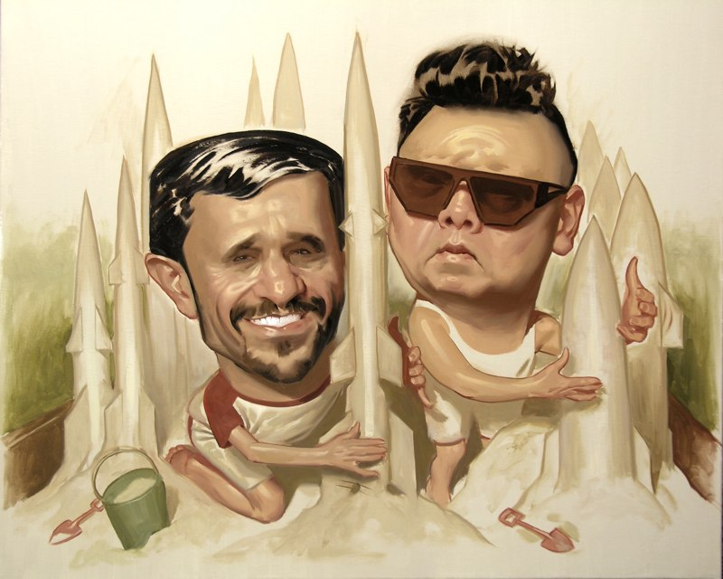 paintings illustration caricature Daniel-Adel-Sandbox Buddies
