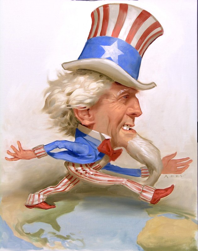 paintings illustration caricature Daniel-Adel-UncleSam