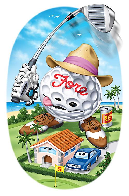 errant golfball