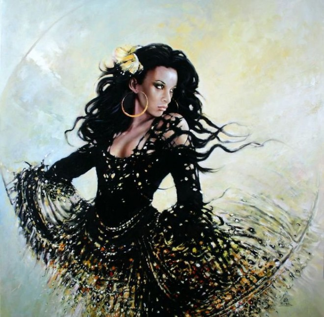 Fashion Cycle  - Paintings by Artist Karol Bak (15)