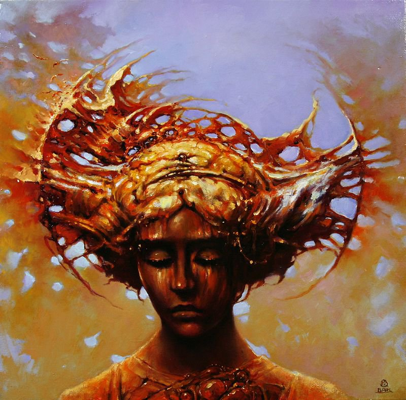 fashion cycle    paintings by artist karol bak 16