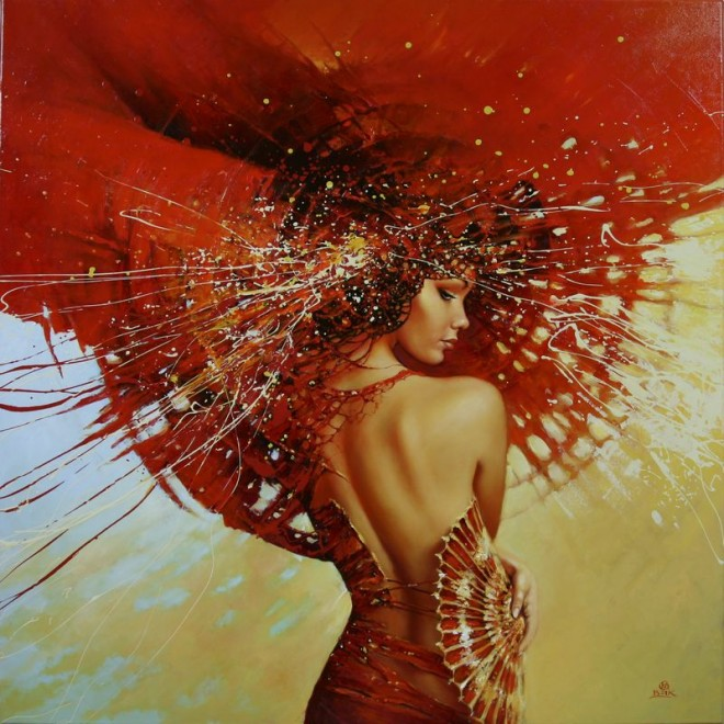 Fashion Cycle  - Paintings by Artist Karol Bak (3)
