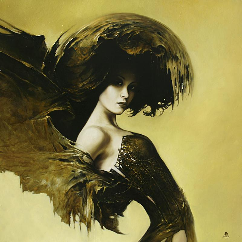fashion cycle    paintings by artist karol bak 4