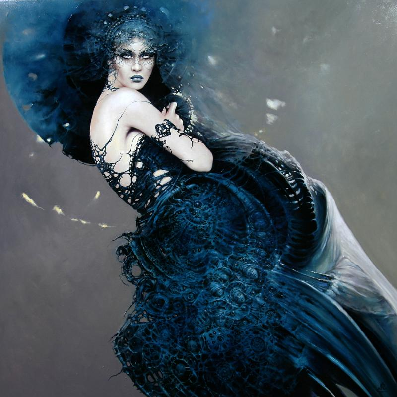 fashion cycle    paintings by artist karol bak 5