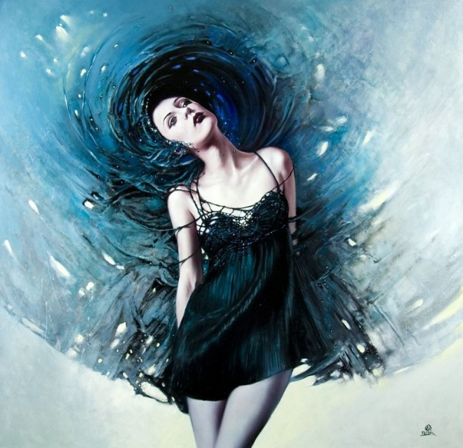 Fashion Cycle  - Paintings by Artist Karol Bak