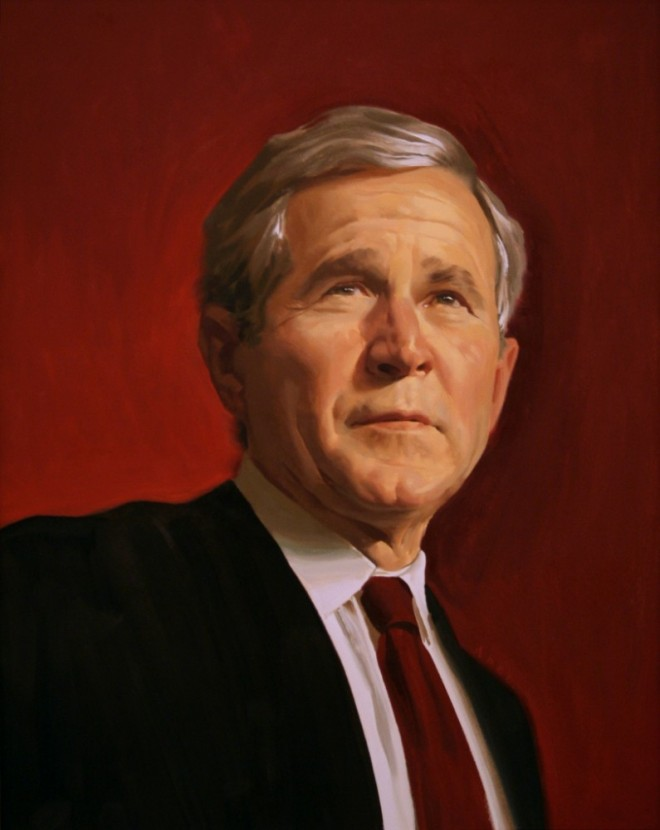 paintings illustration caricature George W Bush Time cover