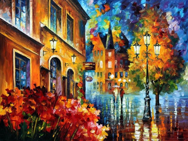 colorful painting best beautiful leonid afremov vivid colored oil acrylic water color (4)