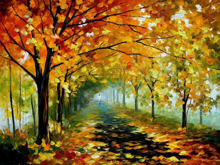 28 beautiful vividly colored landscapes and paintings by for Nice acrylic paintings