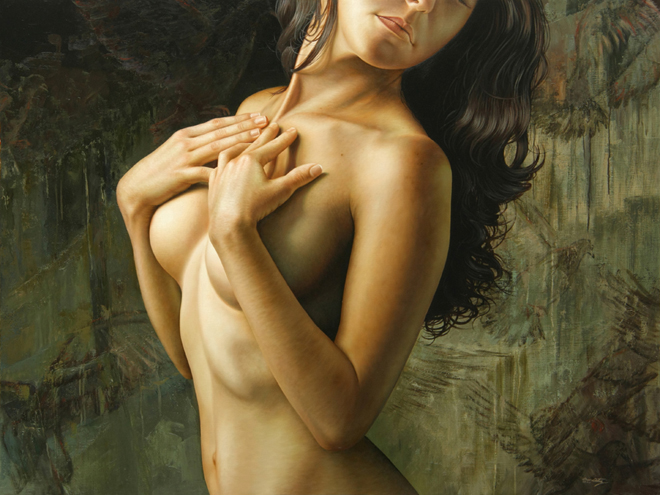 Oil%20Paintings%20Omar%20Ortiz 26 Hyper Realistic Oil Paintings of Female form by artist Omar