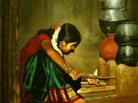 Paintings of rural indian women - Oil painting (1)