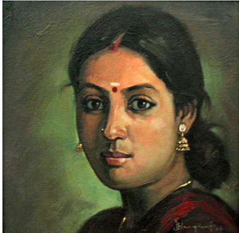 indian woman paintings