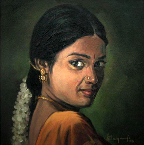 Paintings Images on Paintings Of Rural Indian Women   Oil Painting  18  Full Image