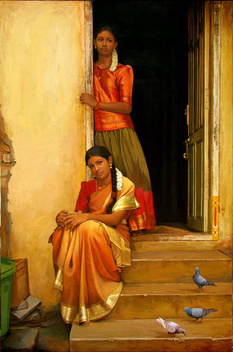 paintings of rural indian women   oil painting 19