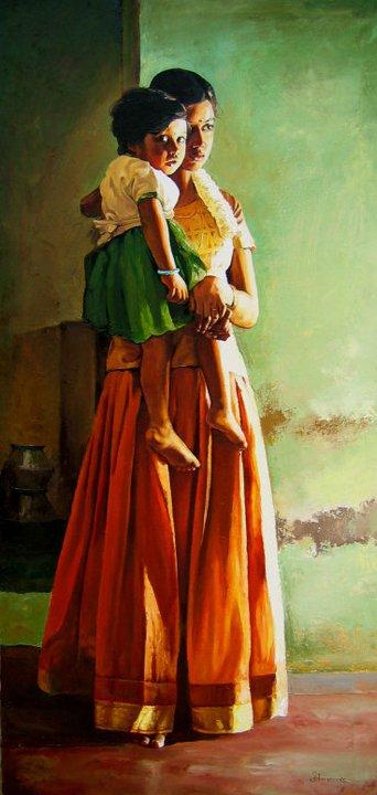 paintings of rural indian women   oil painting 20