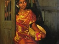 Paintings of rural indian women - Oil painting (9)