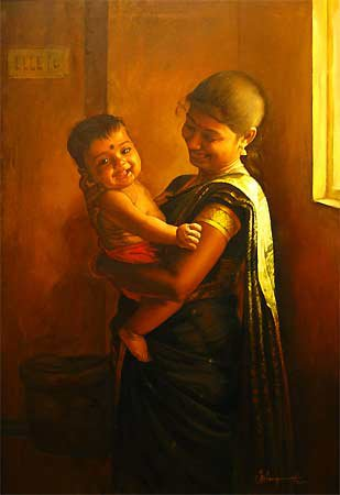 Paintings of rural indian women Oil painting