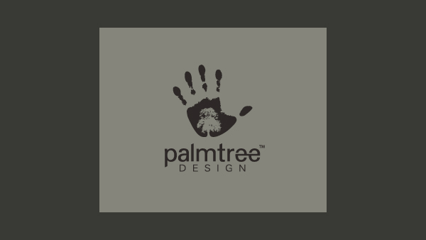 palm tree design logo