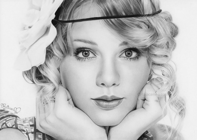 Taylor%20swift%20by%20Rajacenna.forblog 25 Beautiful Drawings from 18 year old Artist Rajacenna