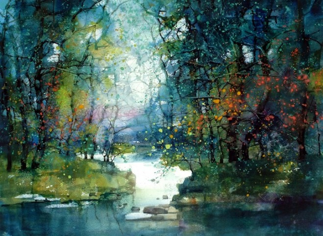 Water colour paintins - ZL Feng - Shangai Artist (8)