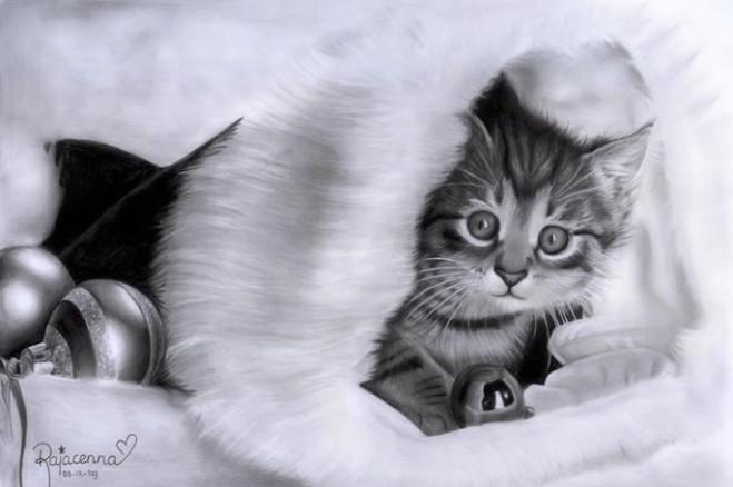 christmas kitty  by Rajacenna
