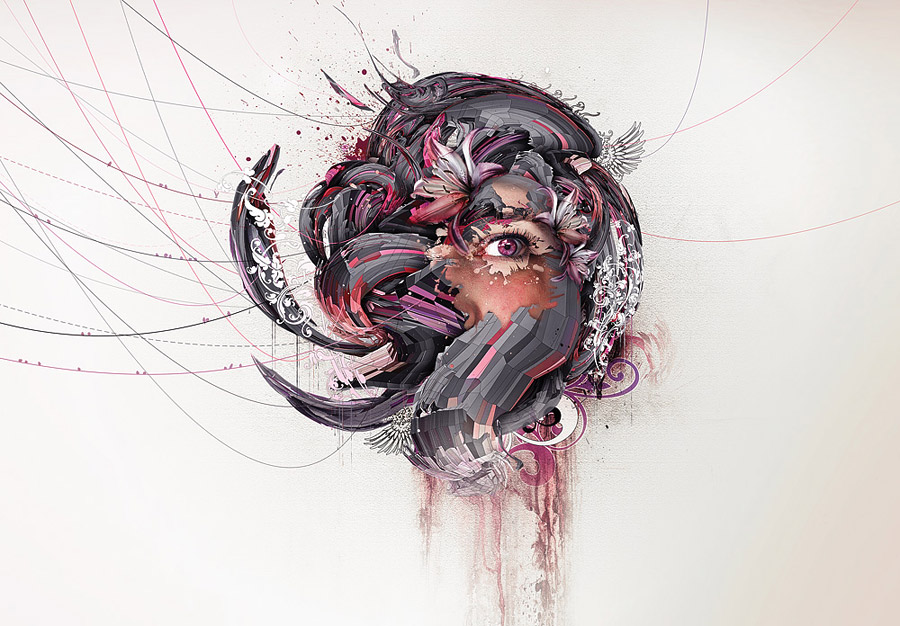 Amazing Art Design : Creative abstract graphic illustrations and photo