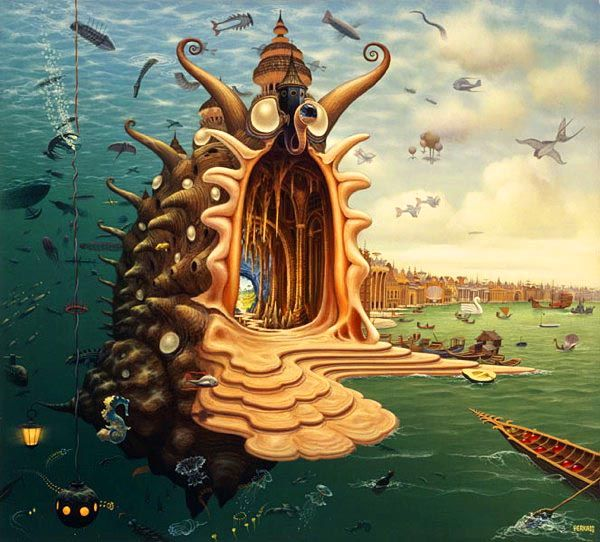 dream world painting jacek yerka%20(1) Dream World Revealed on Canvas   21 Mind Blowing Paintings by Jacek Yerka