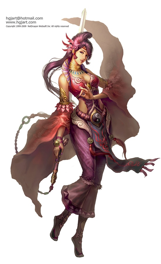 fantasy characters digital paintings guangjian huang%20(3) 25 Stunning Digital Paintings and Oriental Fantasy Characters by Guangjian Huang