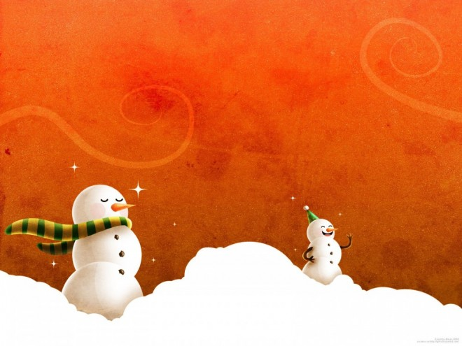 laughing christmas snowmen.forblog 30 Beautiful Christmas and Winter themed Wallpapers for your desktop