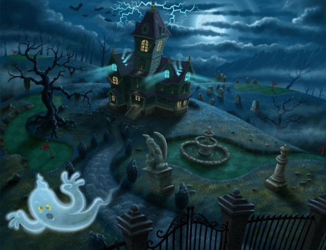 mg2 hauntedmanor concept.forblog 25 Beautiful Digital Paintings and caricatures by Artist Javier Martinez Sanchez