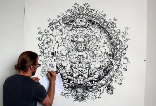 mural mega drawings joe fenton solitude