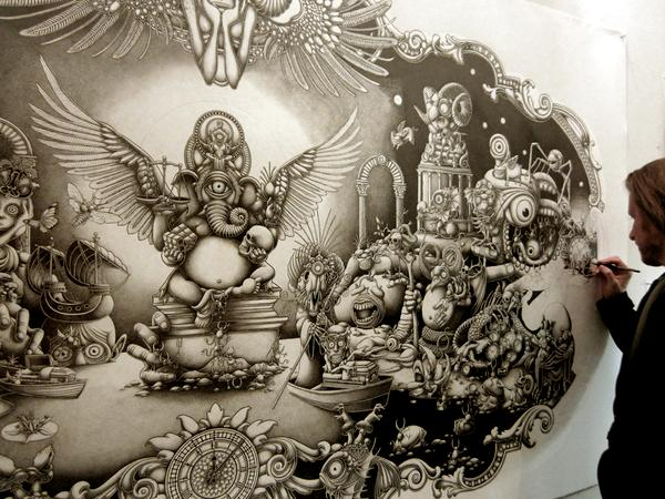 mural mega drawings joe fenton solitude%20(5) 20 Mind blowing Mega size Drawings by Joe Fenton   Solitude