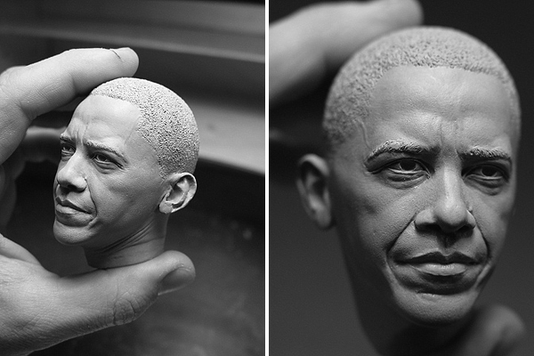 obama sculputre by adam beane
