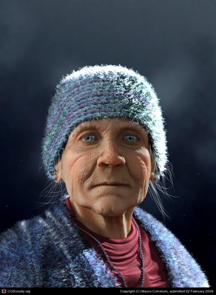 old lady 2 mauro corveloni   3d character design