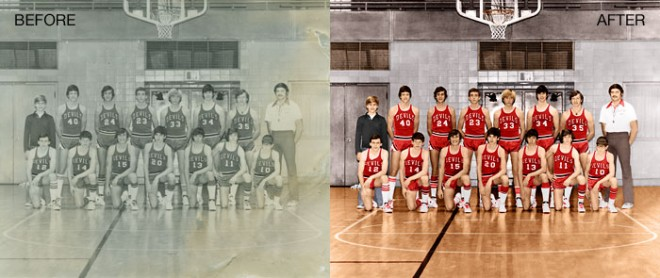 old photo coloring