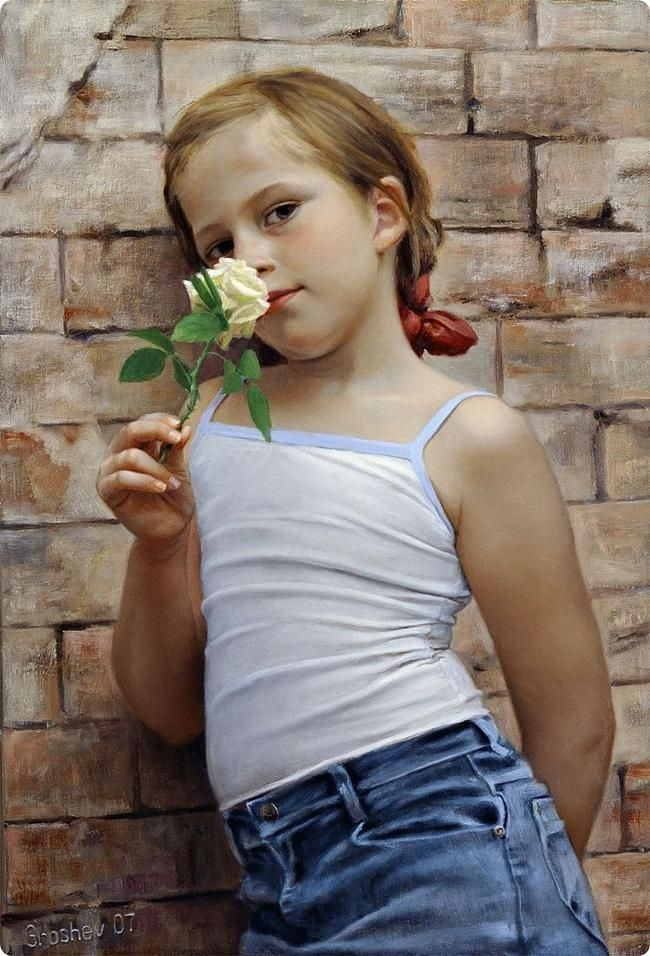 painting - girl