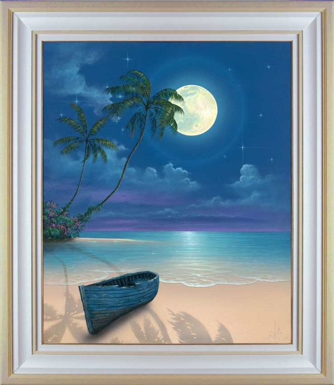 moon beach painting