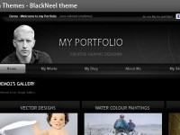 Black Theme - You can change your Portfolio Theme