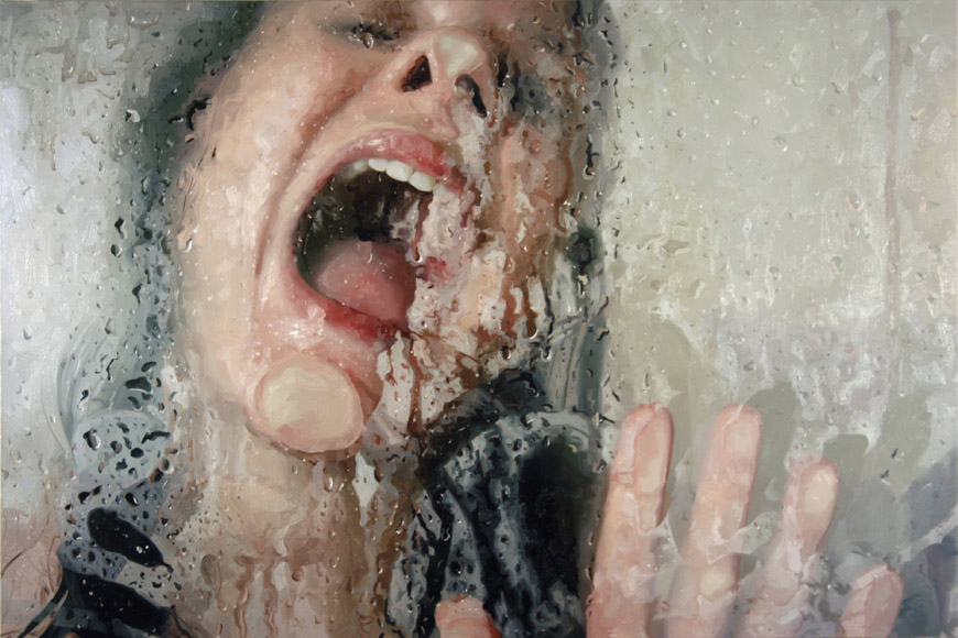 realistic painting glass window alyssa monks 4