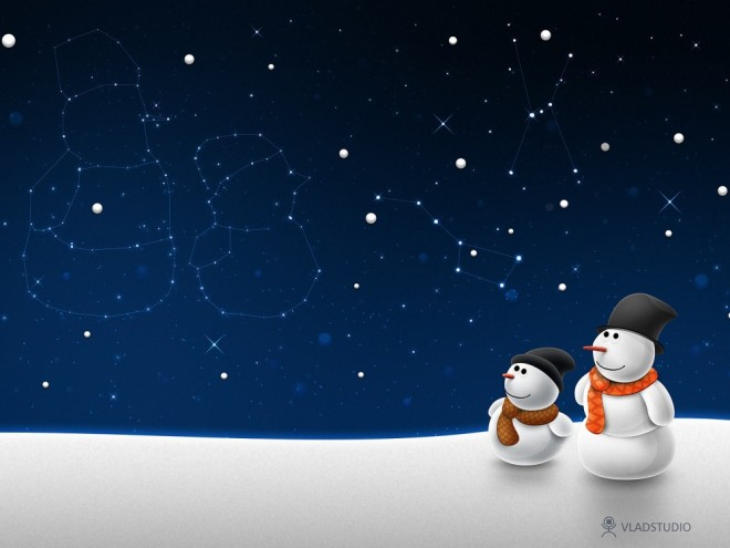 snowman constellation wallpaper