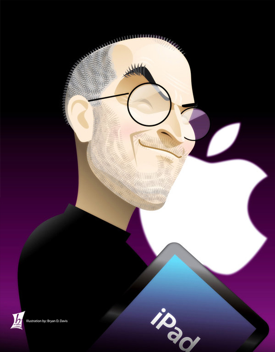 steve jobs dpainting a