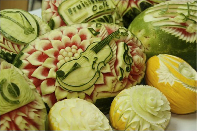 Vegetable carving image