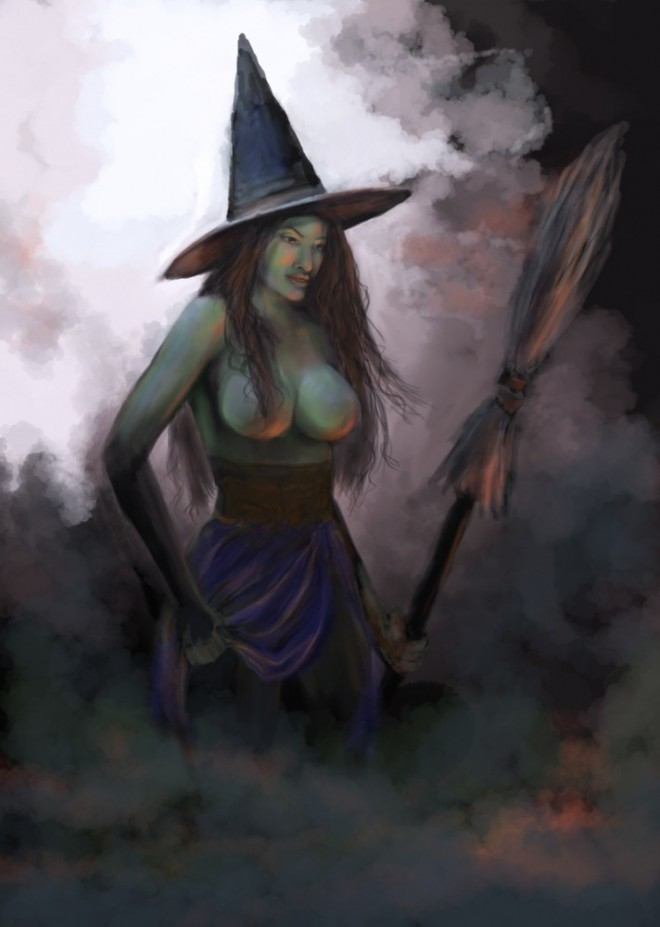 witch digital painting webneel_com (3)