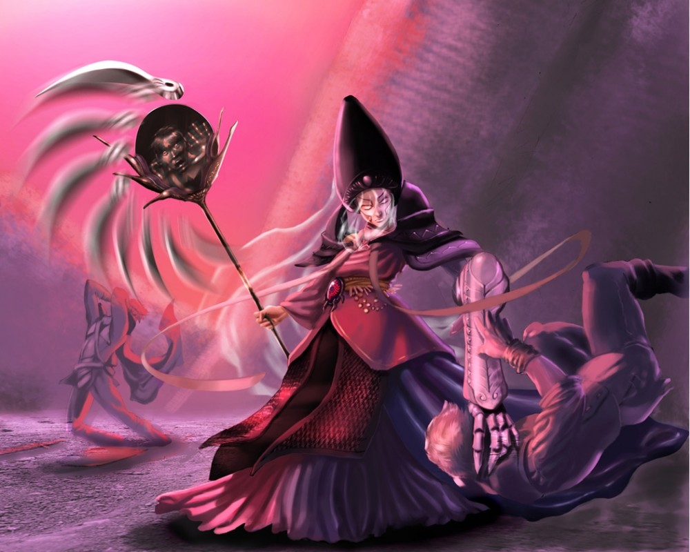 witch digital painting webneel com