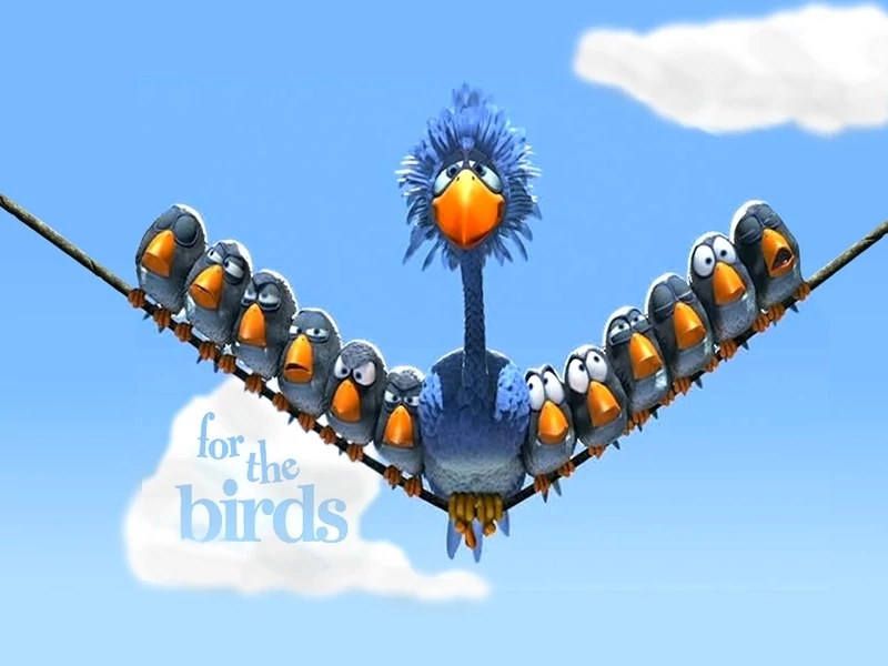3D Funny Animated Short - Birds on a Wire