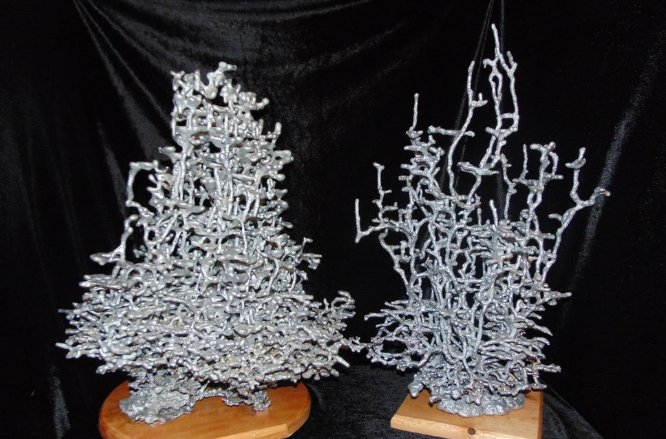 Oddly Satisfying Ant Hill Sculpture with Molten Aluminium by Anthill Art