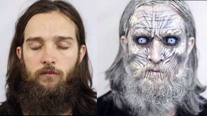 Game of Thrones White Walker Face Painting by Jodi Steel