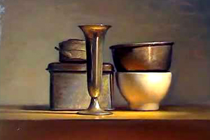 Still life painting demo in artificial light - Speed painting video