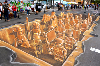 Making of 3D Street Art - Terracotta LEGO ARMY - Speed Video