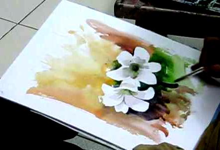 Art Demo of Flowers in Watercolors - Tutorial